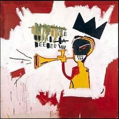 Jean-Michel Basquiat (African-American, Neo-Expressionism, 1960-1988): Trumpet, 1984. Acrylic and oil paint stick on canvas.