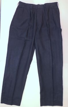 Polo Ralph Lauren Navy Blue Linen Dress Inseam 32 Pants Sz 3  @poloralphlauren #poloralphlauren #polo #PRL #linen  http://stores.ebay.com/BeautyMarcFashion Instagram: beautymarcfashion Twitter: bmarcfashion