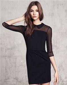 robe noire de mango