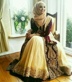 Latest Bridal Hijab Styles Dresses Designs Collection consists of Asian, desi fashion & Arabic fancy hijab dresses, gowns and frocks, maxis, etc Islamic Fashion, Muslim Fashion, Hijab Fashion, Indian Fashion, Fashion Dresses, Hijab Style Dress, Hijab Look, Hijab Chic, Pakistani Bridal