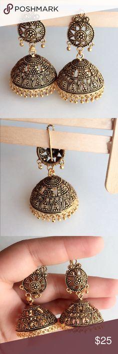 ❤️MOM❤️Antique Indian Style Dangle Jhumki Earrings Antique Indian Style Dangle Jhumki Earrings. Ask for discounted shipping. Jewelry Earrings