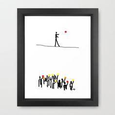 we believe in circles  Framed Art Print by sladja - $35.00