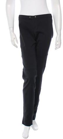 Gucci Mid-Rise Skinny Pants Women Pants, Skinny Pants, Black Pants, Parachute Pants, Gucci, Sweatpants, Stylish, Tops, Fashion