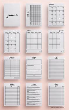 Daily Planner for Filofax, kikki. Planner 2018, To Do Planner, Planner Pages, Printable Planner, Life Planner, Diary Planner, Printables, Bullet Journal Tracker, Bullet Journal Notebook