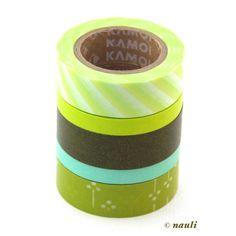 masking tape / washi tape spring green