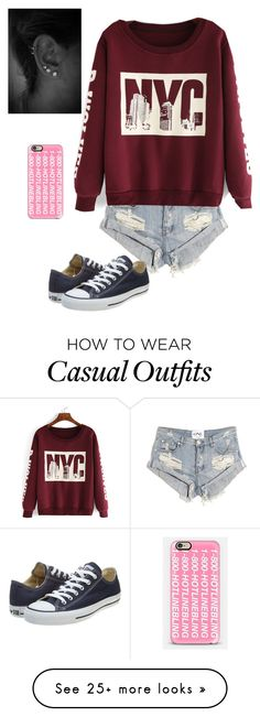"""""""Casual"""" by lauren007 on Polyvore featuring One Teaspoon, Converse, Casetify, women's clothing, women, female, woman, misses and juniors"""