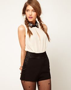 ASOS Playsuit with Gem Collar- cute, sexy, dressy - new years-material!