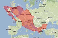 mapa mexico europa - Buscar con Google