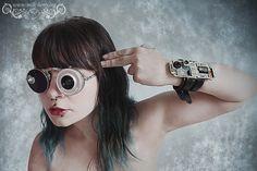 Milk-Berry's new cyberpunk / post-apocalyptic / retro-futurist accessories ! • Customised Robot Sunglasses • Futuristic Bracelet • Unique Models