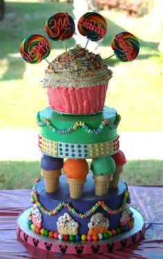 Candy Cake- really want to do a Candy theme party someday..