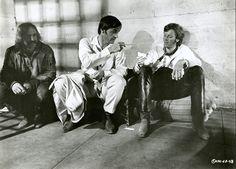 Jack Nicholson, Peter Fonda, and Dennis Hopper on the set of Easy Rider