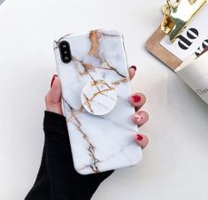 Beautiful White and Black Marble Stone Marble Stone Phone Case for iPhone iPhone X XS XR XS Max - Raised Lip with phone stand Iphone 10, Iphone 8 Plus, Iphone Phone Cases, Phone Wallet, Phone Covers, Phone Cases Marble, Marble Case, Cute Phone Cases, Cute Cases