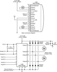 158 best electronic ponents images electronics ponents USB Connections Diagram using the l298 motor bridge ic