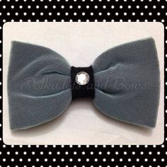 *handmade* black & blue lace bow