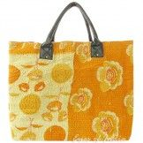 Oversized Women's Beach Tote Vintage Kantha Bag