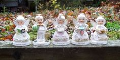 Vintage Napco Ceramic Angels of The Month Figurines Japan Lot of 5 | eBay