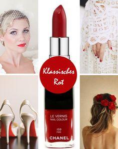 Rote Lippen zur Hochzeit | Friedatheres