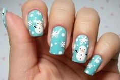 Frosty the Snowman | 11 Holiday Nail Art Designs Too Pretty To Pass
