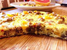 #paleo Sausage & Peppers Frittata | 1/2 pound ground pork sausage; 1/2 cup finely diced white or yellow onion; 1 cup bell peppers, small dice; 6 eggs; some salt & pepper; Extra-virgin olive oil