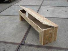 side table steigerhout klep