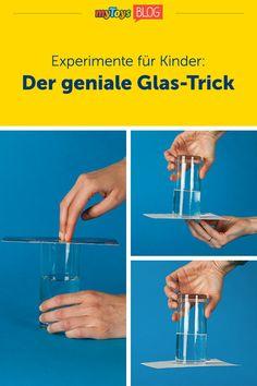 Heute gibt's von uns ein Experiment, das eure Kinder noch oft in staunen versetzen wird. Das Wasserexperiment für Kinder zeigt spielerisch, welch ungeheurer Luftdruck auf uns und allem anderen lastet. Denn das Experiment mit Luftdruck zeigt, wie ein Vakuum funktioniert. Alles was man für das Kinderexperiment braucht sind ein Glas Wasser und eine Postkarte. #experiment #experimentefürkinder #kinderexperiment #wasserexperiment