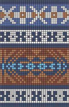 Wayuu Mochila pattern Plus Tapestry Crochet Patterns, Fair Isle Knitting Patterns, Knitting Charts, Loom Patterns, Knitting Stitches, Knitting Designs, Motif Fair Isle, Fair Isle Chart, Fair Isle Pattern