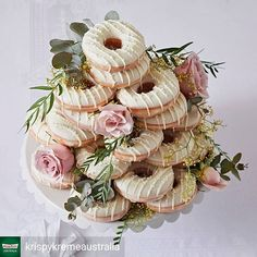 Krispy Kreme Australia is way more in the wedding department tha. - Krispy Kreme Australia is way more in the wedding department than we are! Donut Wedding Cake, Wedding Donuts, Donut Party, Wedding Desserts, Wedding Cakes, Krispy Kreme Wedding Cake, Krispy Kreme Doughnut, Doughnut Cake, Krispy Kreme Cake
