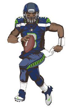 Doug Baldwin, Sports Drawings, Football Wallpaper, Seattle Seahawks, Nfl Football, Easter Riddles, Fictional Characters, Wall Art, Random