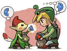 /Minish Cap/#175539 - Zerochan | The Legend of Zelda: The Minish Cap (Game Boy Advance, 2004) | Toon Link, Ezlo, and a Minish