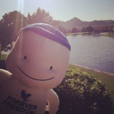 Freedom baby is enjoying the beautiful weather at our home office in Scottsdale, AZ <3