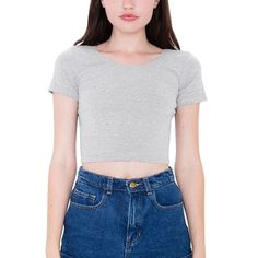 e5431893f755 Women O Neck Sexy Crop Top Ladies Short Sleeve Tee Short Basic Stretch  Clothes Tops Good. American Apparel ...