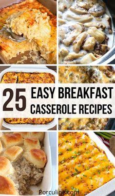 Easy Breakfast Casserole Recipes, Brunch Recipes, Seafood Recipes, Dessert Recipes, Dinner Recipes, Cooking Recipes, What's For Breakfast, Savory Breakfast, Breakfast Dishes