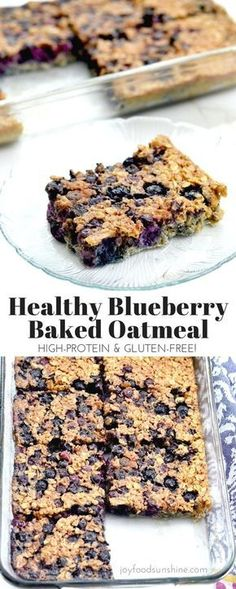 The addition of Greek yogurt and almond meal mak… Baked blueberry oatmeal recipe! The addition of Greek yogurt and almond meal make this a protein-rich breakfast! Plus it's gluten-free, refined-sugar free and feeds a crowd! Protein Rich Breakfast, Best Breakfast, Breakfast Healthy, Healthy Brunch, Blueberry Breakfast, Breakfast Muffins, Breakfast Casserole, Baked Blueberry Oatmeal, Greek Yogurt Breakfast