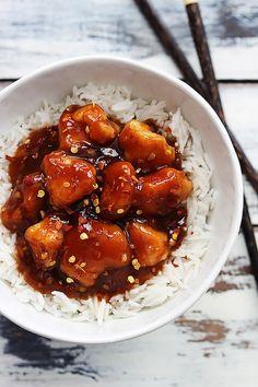 Honey Sriracha Chicken - Creme De La Crumb
