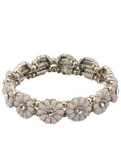 Resin Flower Stretch Bracelet