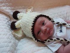 Handmade Crochet Baby Newborn Giraffe Hat by CathysCreationsNC, $20.00