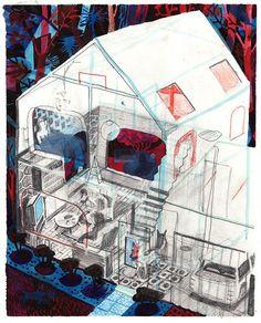 Illustration. Brecht Evens. (Illustration, Design)