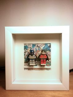 LEGO Batman and Robin Minifigures Framed by bricksnbrooches, $65.00