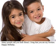 Brother and Sister Quotes: Happy Birthday Brother