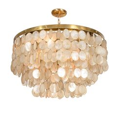 I have one of these that is a solar capiz shell windchime its captivating capiz shell chandelier mozeypictures Gallery
