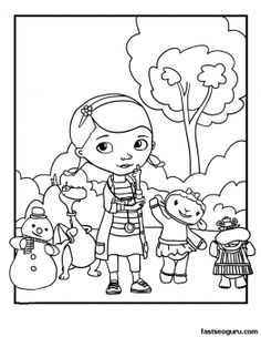 Printable Doc McStuffins Coloring Pages - Printable Coloring Pages For Kids