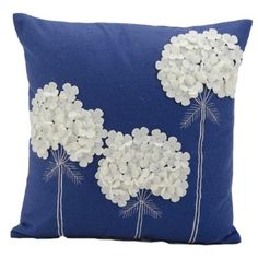 Mina Victory Felt Three White Flowers Navy Throw Pillow - Nourison Colorful, hand cut wool felt pillows are skillfully crafted and sewn to create a joyful collection to mix and match with all other Mina Victory pieces. Features: Fabric: Dimensions: x x Sewing Pillows, Diy Pillows, Decorative Pillows, Cushions, Throw Pillows, Accent Pillows, Blue Pillows, Sewing Crafts, Sewing Projects