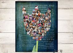 Tulip collage Gift for best friend Gift for by YourLifeMyDesign