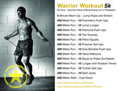 Here's a great workout to help prepare for runs such as Tough Mudder or Spartan Race....kick some Butt!