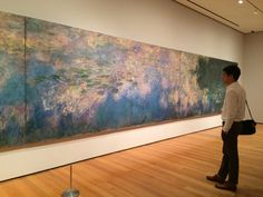 "Admiring ""Water Lilies"" by Claude Monet at The Museum Of Modern Art (MoMa) in New York City.  Rough & Smooth"