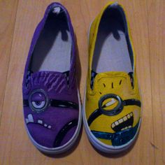Despicable Me  Minion Hand Painted Pumps by DefEars on Etsy, I want these so badly.