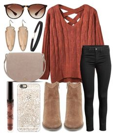 """""""Make today your day"""" by jadenriley21 on Polyvore featuring Steve Madden, Kendra Scott, Casetify, Tory Burch, Ray-Ban and Humble Chic"""