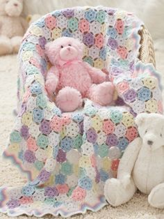 Tiny Snowflakes Baby Blanket By Rochelle Johnson - Free Crochet Pattern - (yarnspirations)