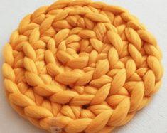 Round cat mat crochet   Etsy Crochet Animals, Crochet Pet, Wool Mats, Big Yarn, Cat Mat, T Shirt Yarn, Pet Beds, Merino Wool Blanket, Small Dogs