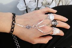 Bold Peace Statement Slave Bracelet Ring by TheMysticalOasisGlow, $32.00